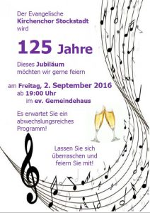 125 Jahre Kirchenchor